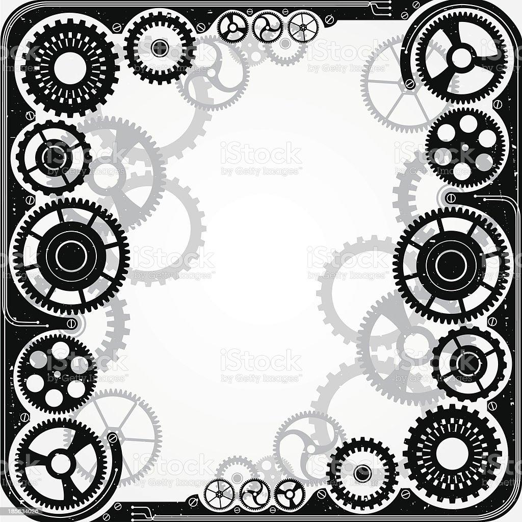 Mechanical cog wheel frame stock vector art more images of mechanical cog wheel frame royalty free mechanical cog wheel frame stock vector art amp jeuxipadfo Images