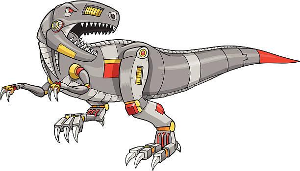 Mechanical Dinosaur Vector Illustration vector art illustration