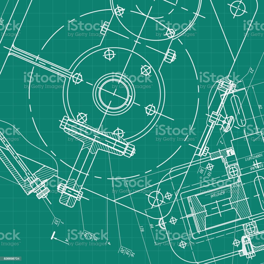 Mechanical Engineering Drawing Schematic Electrical Wiring Diagram Wow Schematics Background Vector Rh Istockphoto Com Symbols Drawings With Dimensions