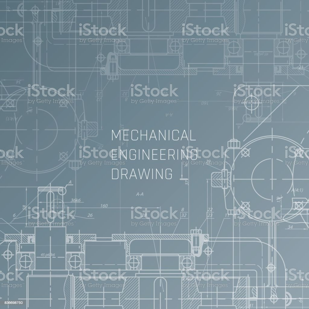 Mechanical engineering drawing engineering drawing background mechanical engineering drawing engineering drawing background blueprint vector royalty free mechanical engineering malvernweather Image collections