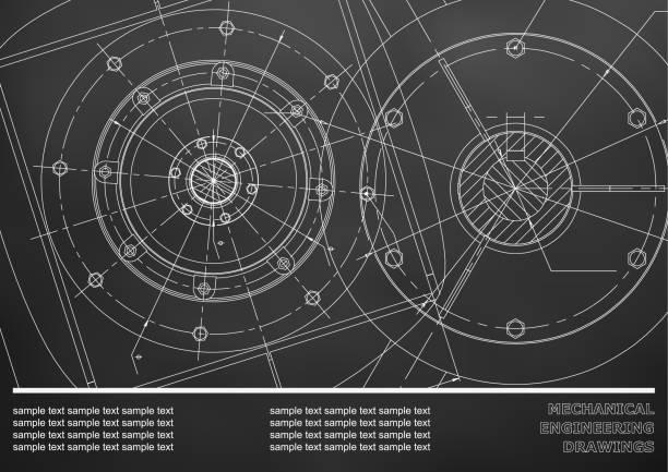 maschinenbauzeichnungen. für inschriften - splash grafiken stock-grafiken, -clipart, -cartoons und -symbole