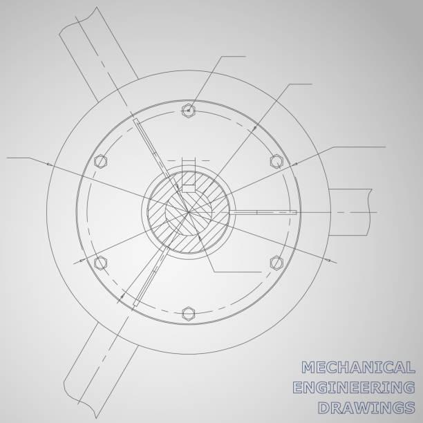 maschinenbauzeichnungen auf grauem hintergrund - splash grafiken stock-grafiken, -clipart, -cartoons und -symbole