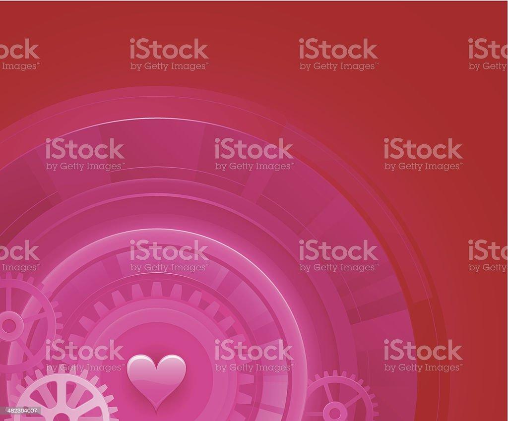 Mechanical heart background royalty-free stock vector art