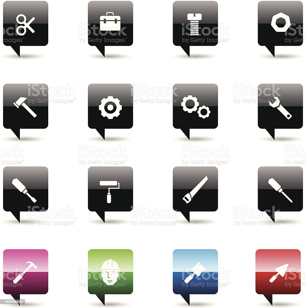 Mechanical icon set 1 royalty-free stock vector art