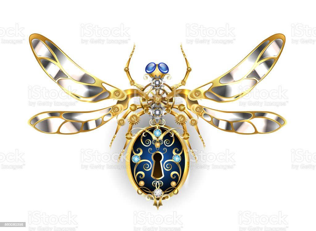 Mechanical insect vector art illustration