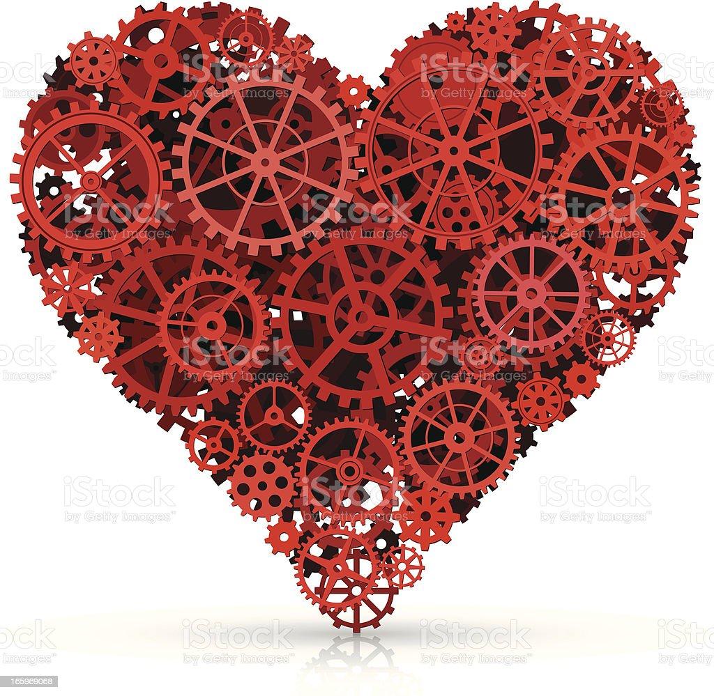 Mechanical Love royalty-free stock vector art