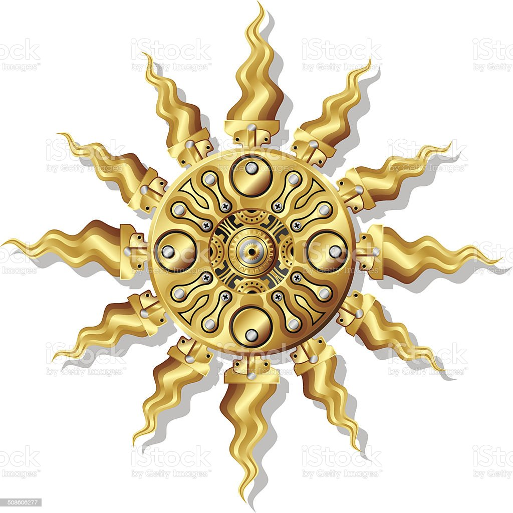 Mechanical Sun royalty-free mechanical sun stock vector art & more images of antique