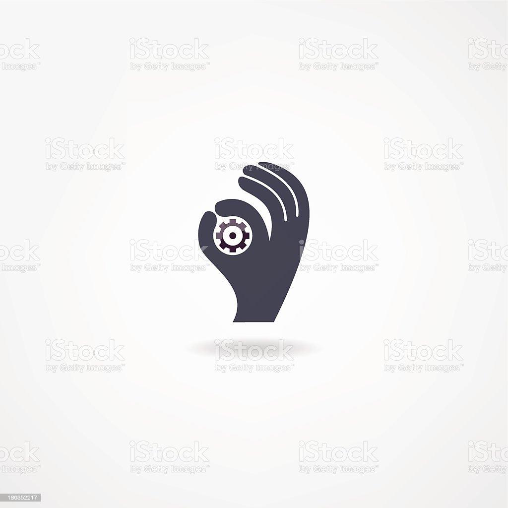 mechanics icon royalty-free stock vector art
