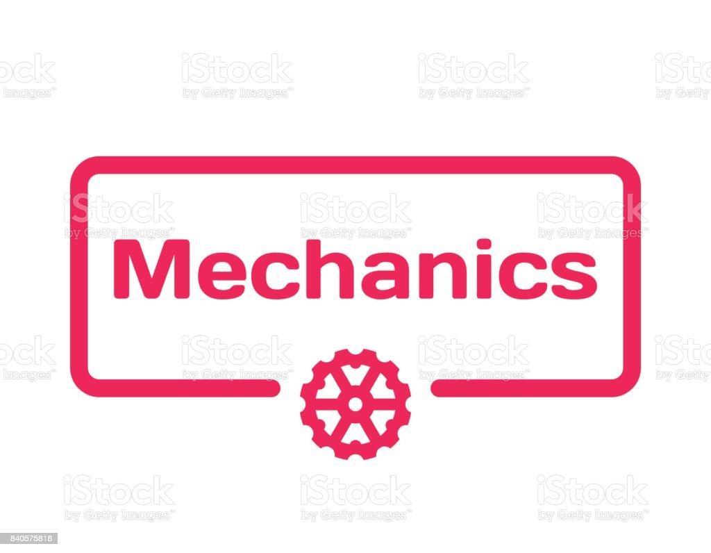 Mechanikvorlage Sprechblase Im Flachen Stil Auf Weißem Hintergrund ...