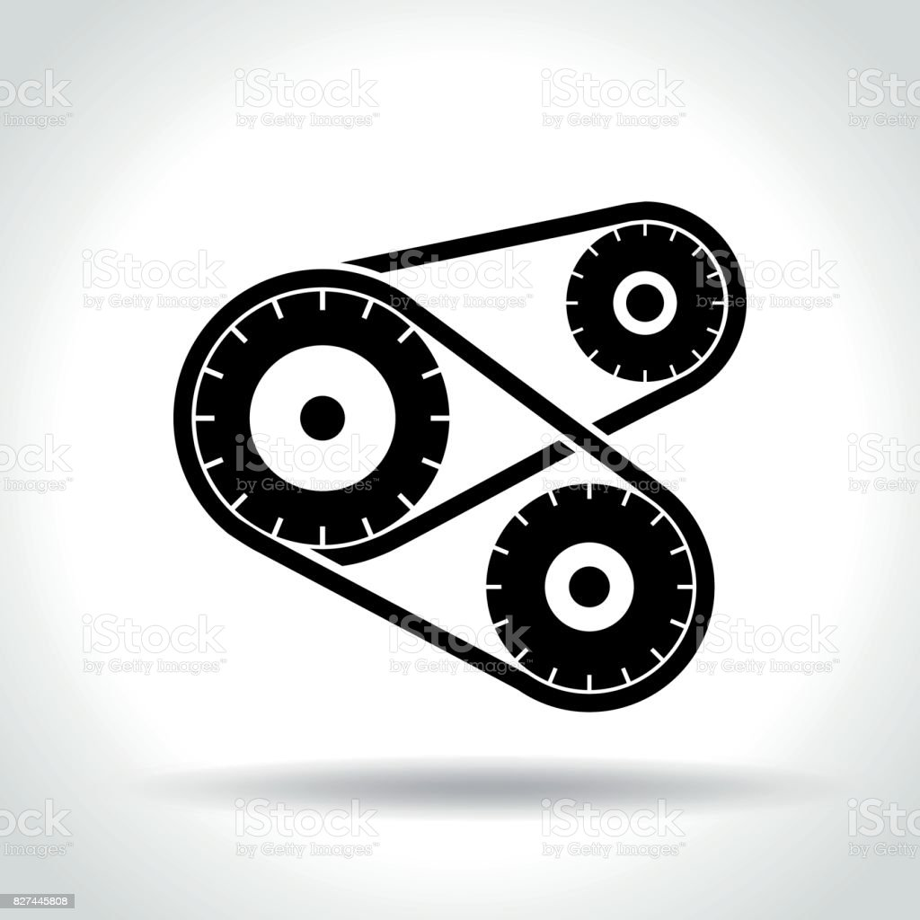mechanism icon on white background vector art illustration