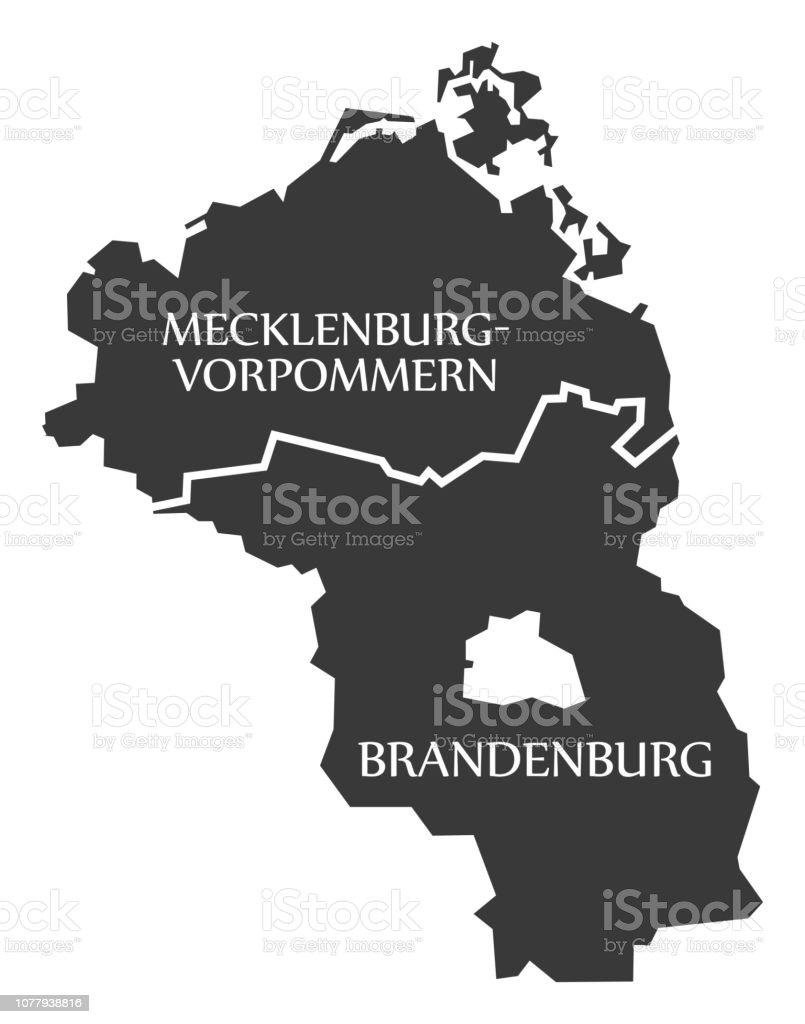 Mecklenburg Western Pomerania Brandenburg Federal States Map Of