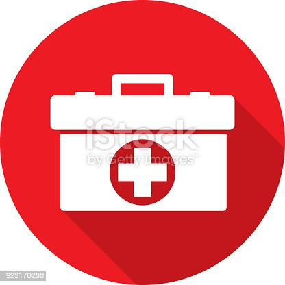 istock Med Kit Icon Silhouette 923170288