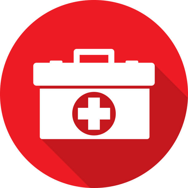 med kit icon silhouette - first aid stock illustrations, clip art, cartoons, & icons