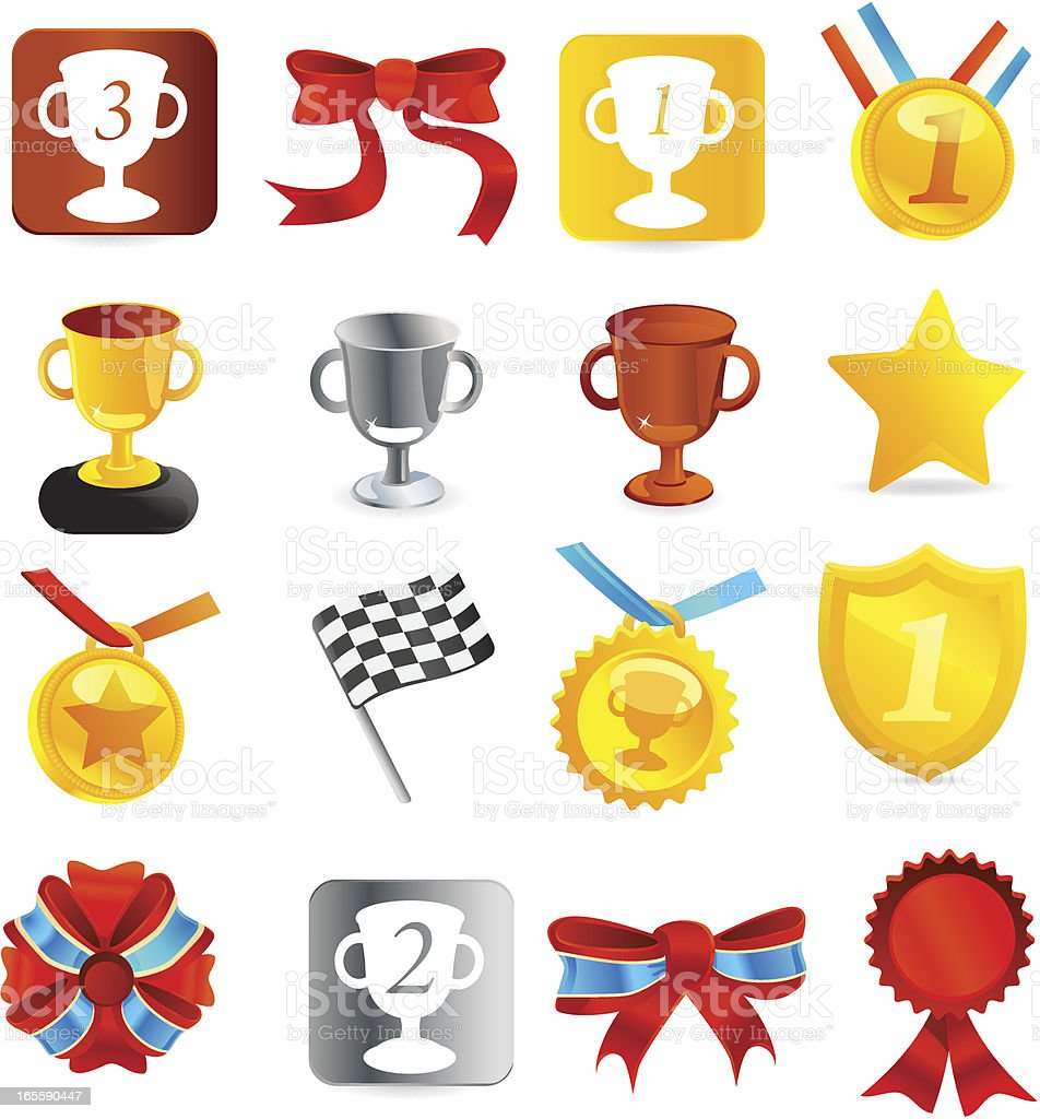 Medal & Tournament trophies Icons] royalty-free medal amp tournament trophies icons stock vector art & more images of achievement