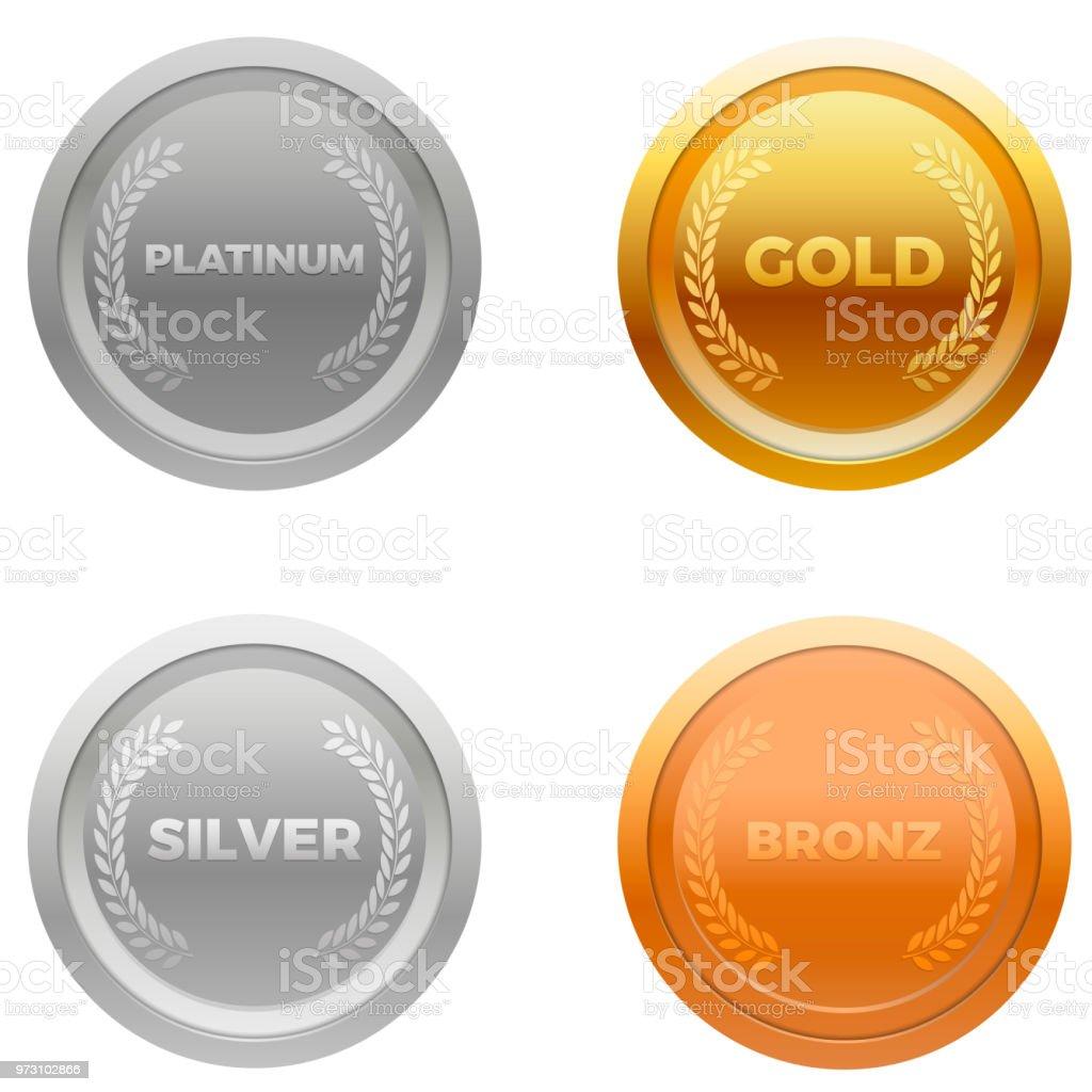 Medal award vector vector art illustration
