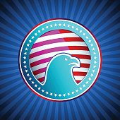 Medal Flag Eagle US America Background Head