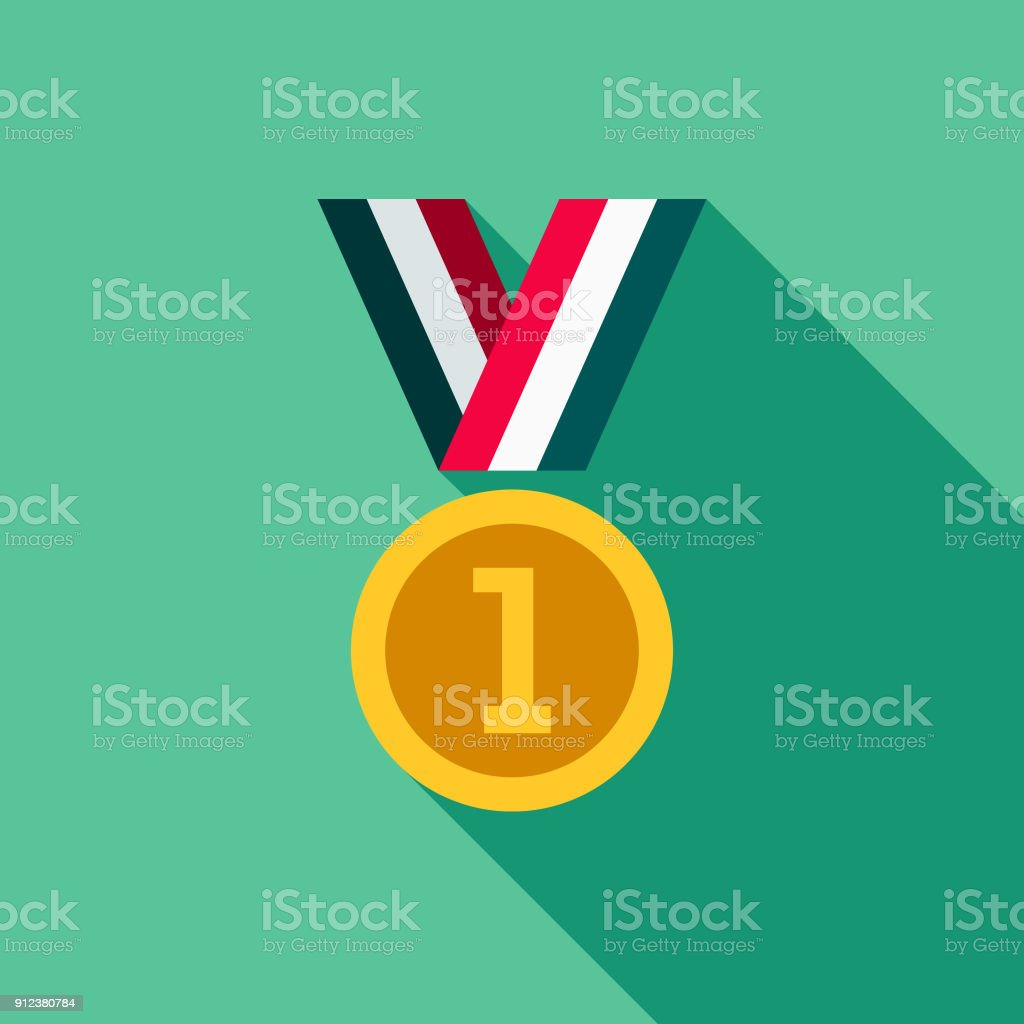 Medal Flat Design Fitness & Exercise Icon