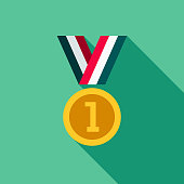 istock Medal Flat Design Fitness & Exercise Icon 912380784