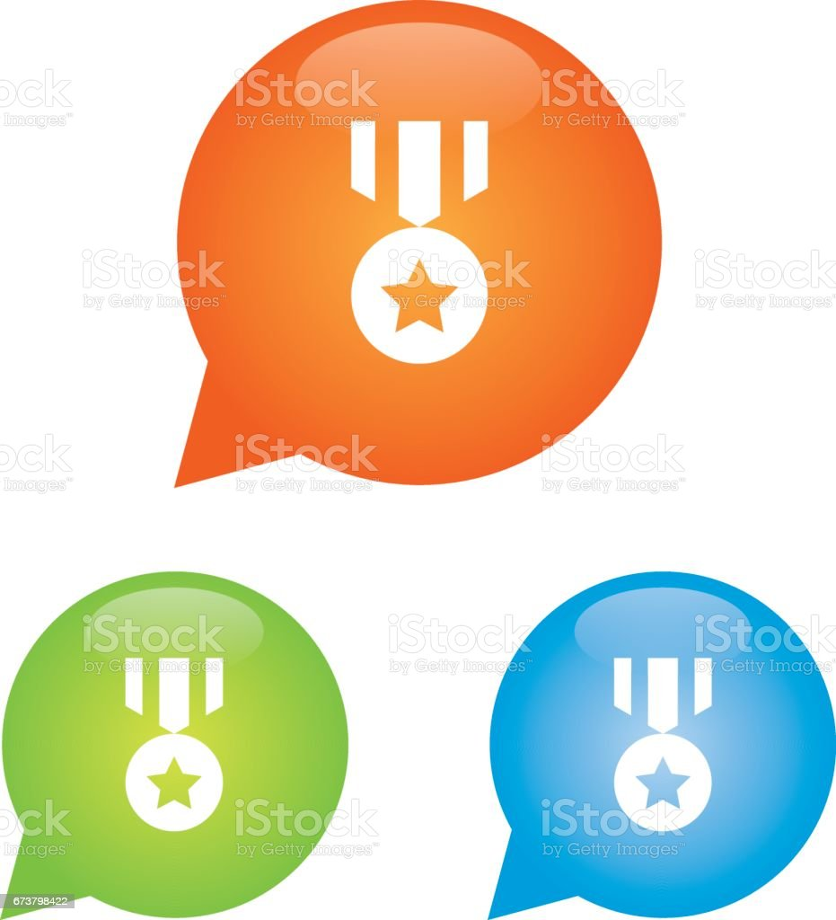 Madalya işareti simgesi royalty-free madalya işareti simgesi stok vektör sanatı & app'nin daha fazla görseli