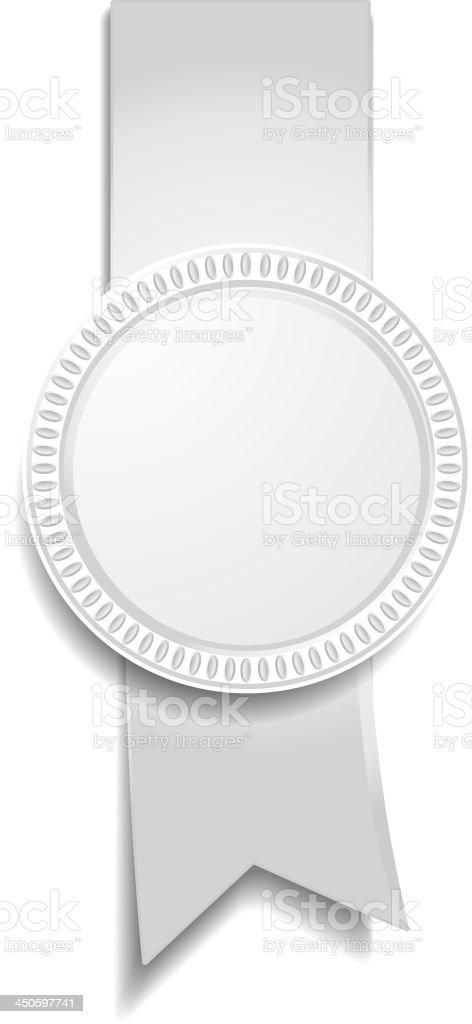 medal of gray royalty-free stock vector art