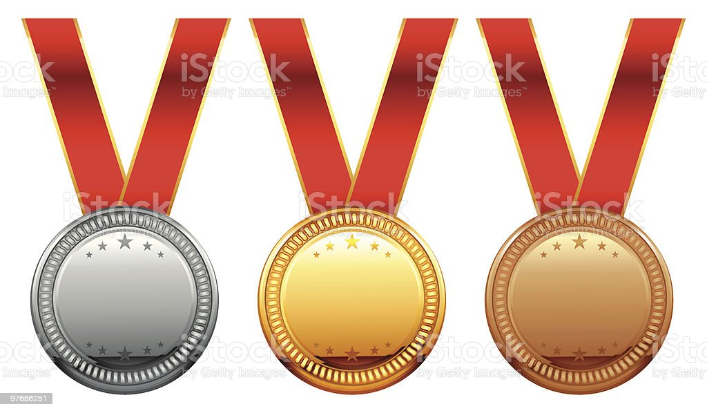 medal set royalty-free stock vector art