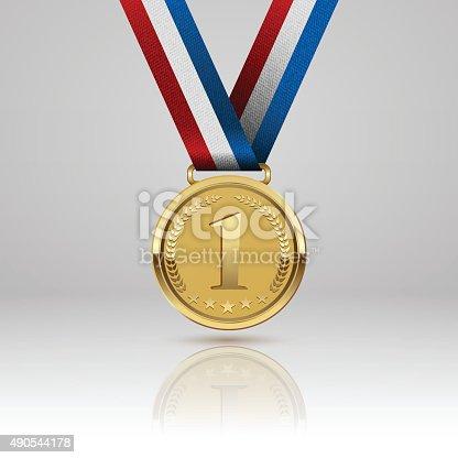 istock Medal winner. Vector 490544178