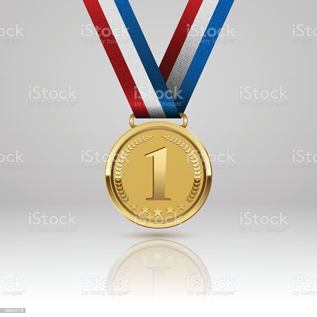 Medal winner. Vector vector art illustration