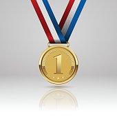 Medal winner. Vector