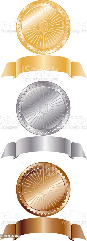 Medals and Banners, Sports or . royalty-free medals and banners sports or stock vector art & more images of award
