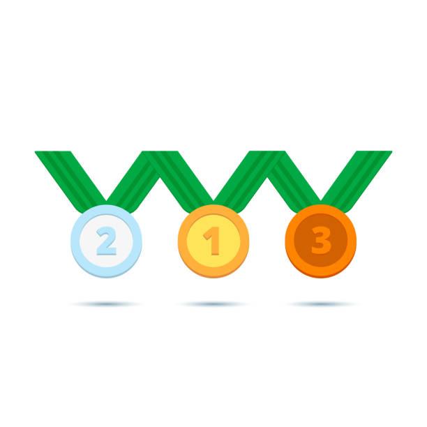 Medaillen für Winter- und Sommersport-Spiele – Vektorgrafik