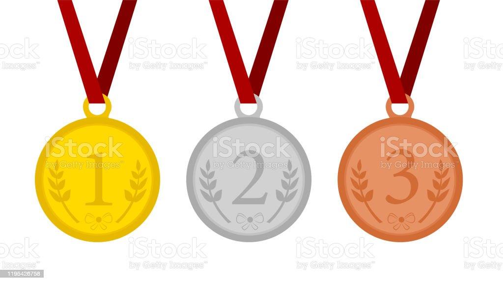 1位2位3位のメダルメダル アイコンのベクターアート素材や画像を多数ご用意 Istock
