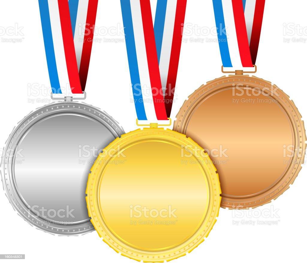 Medals vector art illustration