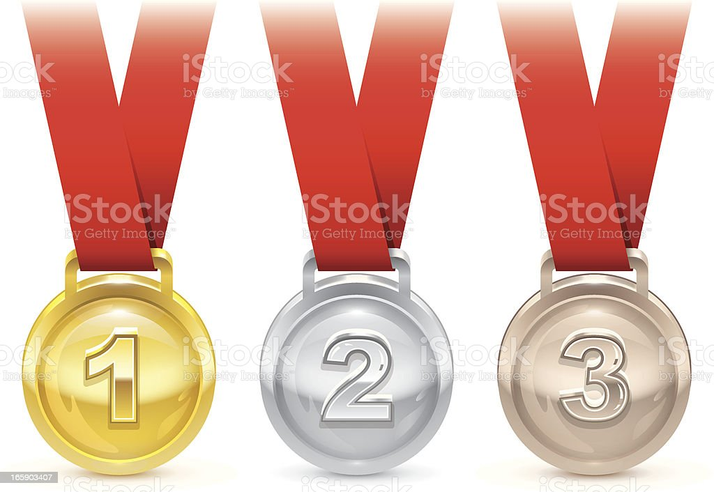 Olympic medals royalty-free stock vector art