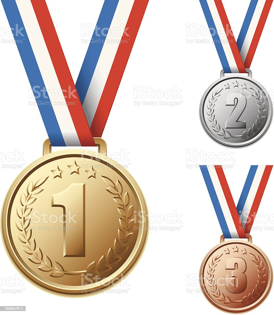 Olympic Medals vector art illustration