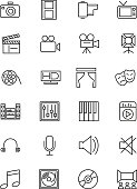 Media and Advertisement Line Icons 1