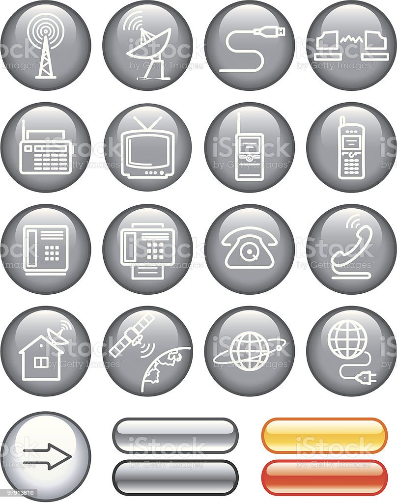 Media and communication icon set royalty-free stock vector art