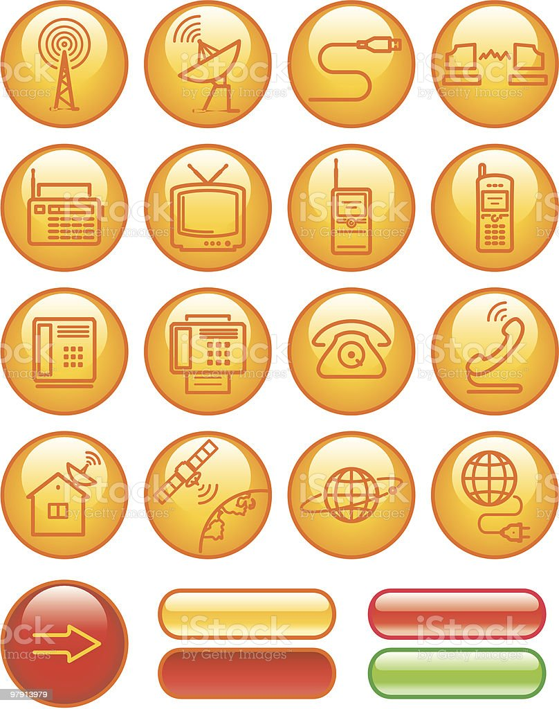 Media and communication icon set royalty-free media and communication icon set stock vector art & more images of antenna - aerial