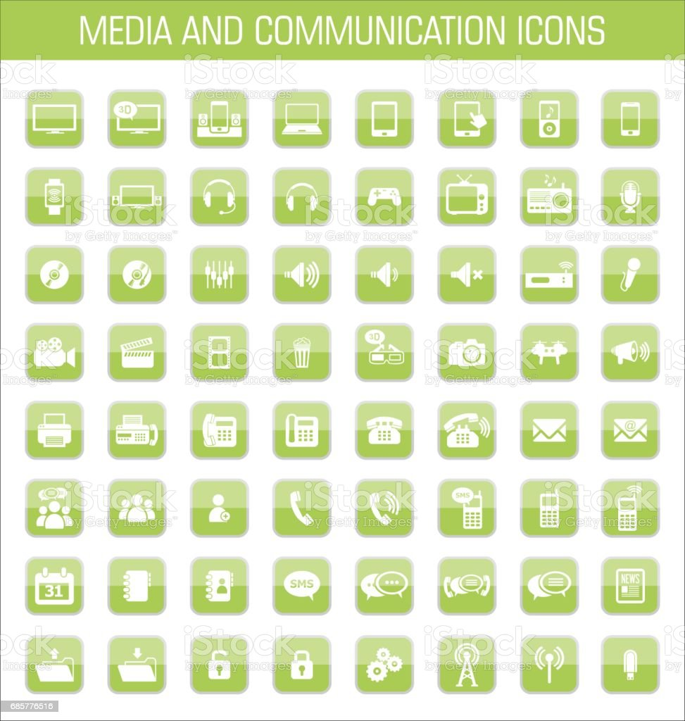 Media and communication icons royalty-free media and communication icons stock vector art & more images of badge