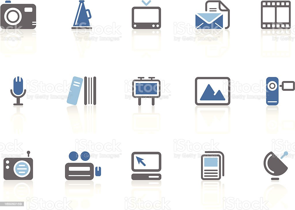 Media and Publishing icons | azur series royalty-free stock vector art
