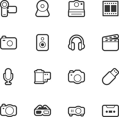 Media and Technology icons - Regular Outline