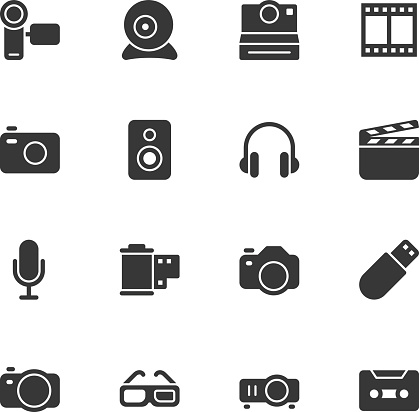 Media and Technology icons - Regular