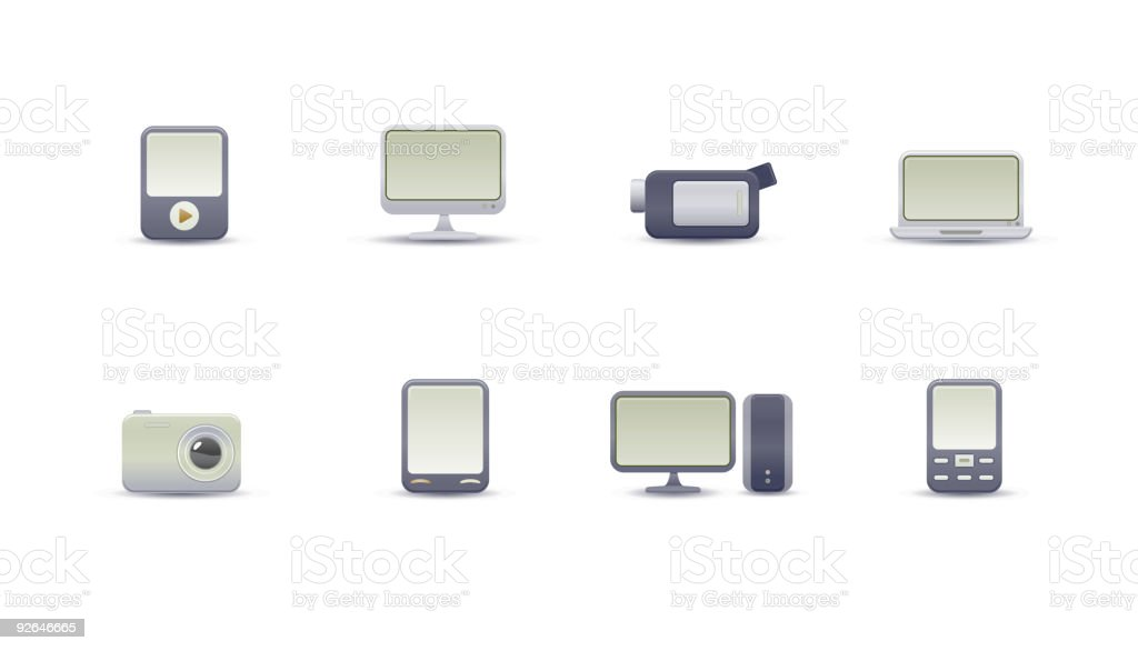media devices royalty-free stock vector art