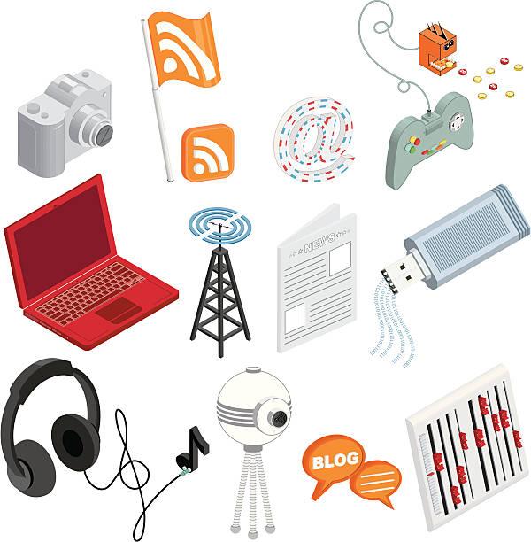 メディア&entertainment_2 - ゲーム ヘッドフォン点のイラスト素材/クリップアート素材/マンガ素材/アイコン素材