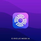 Media Icon Application Illustration Vector Design Template