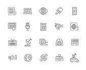 Media Icon Set - Thin Line Series