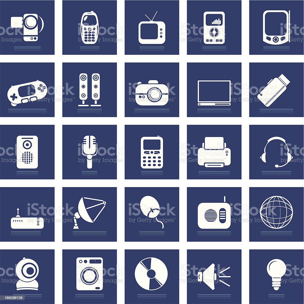 Media Icon Set royalty-free media icon set stock vector art & more images of blue