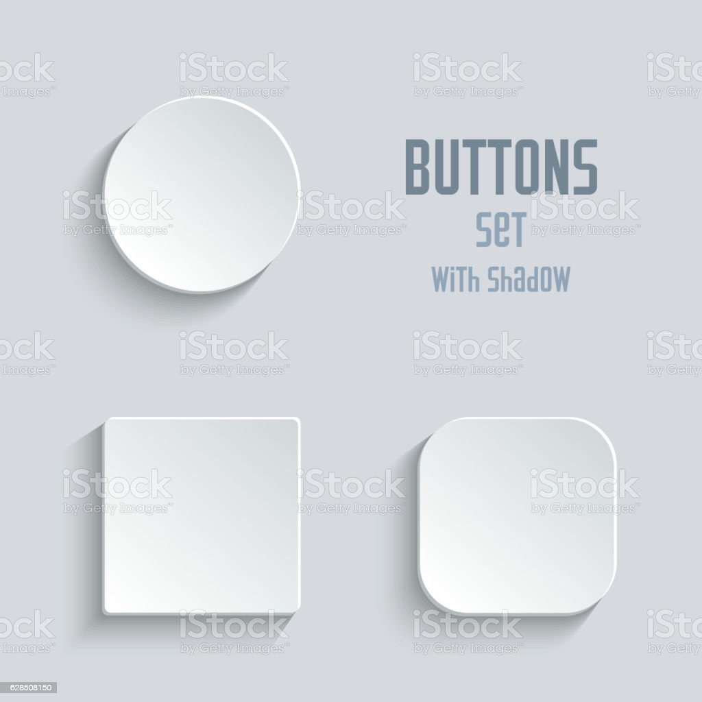 Media icons set - vector white app buttons vector art illustration