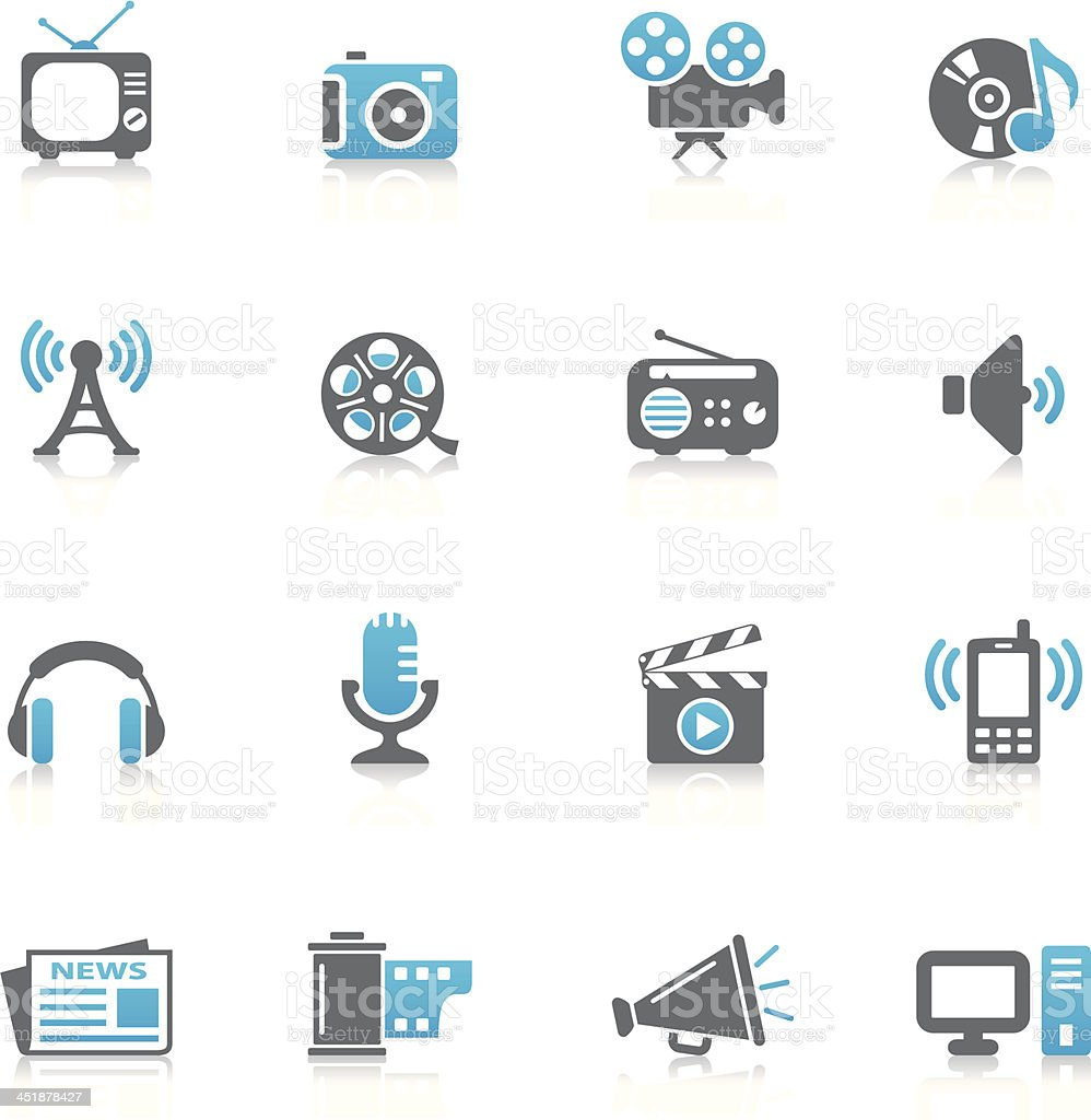 Media Icons royalty-free media icons stock vector art & more images of antenna - aerial