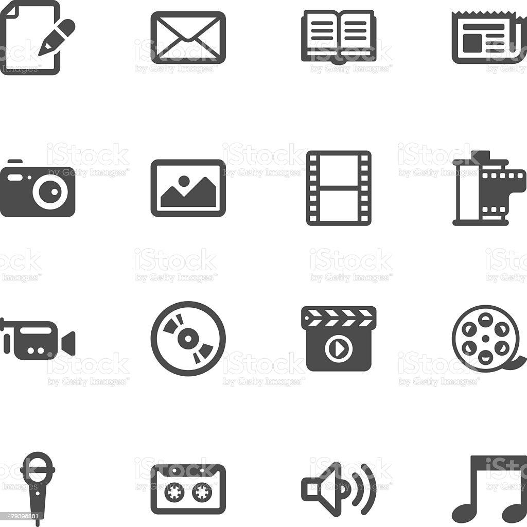 Media icons vector art illustration