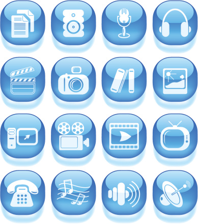 Media Icons Stock Illustration - Download Image Now